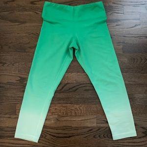 Green Ombré Workout Leggings - Size Small